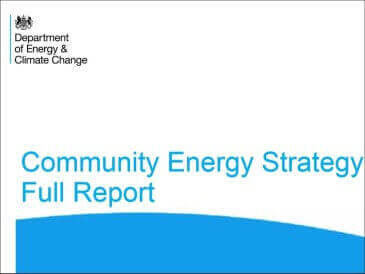 Community windpower -  Government Community Energy Strategy