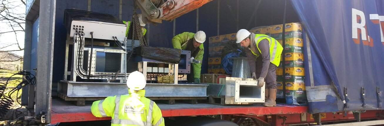 Cross flow turbine delivered to Dovestone Reservoir