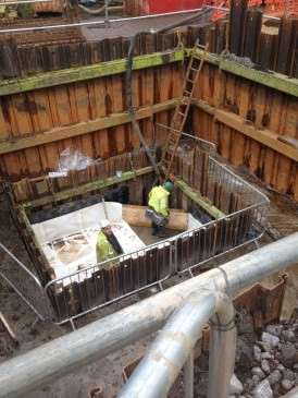 Saddleworth Community Hydro turbine house construction
