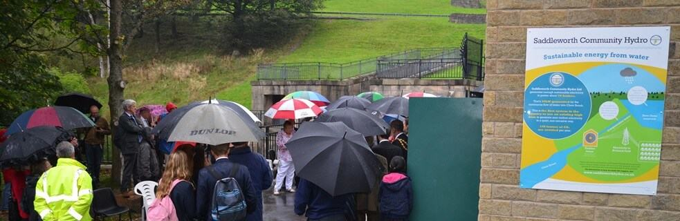 Grand opening of Saddleworth Community Hydro
