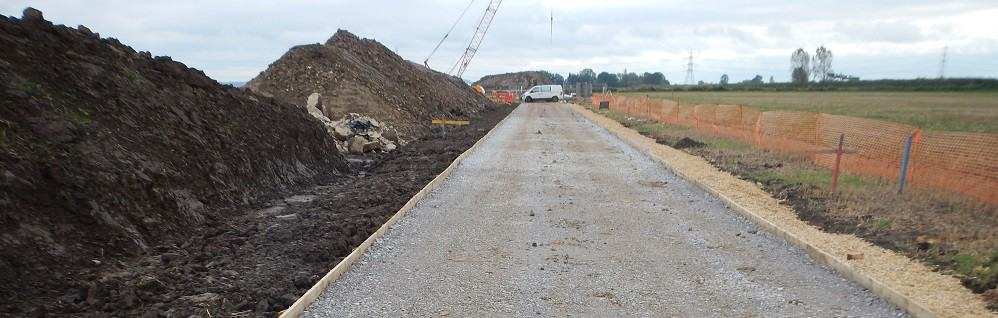 Access to wind turbine site at Blacktoft Nursery