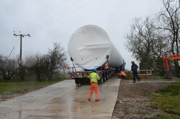 renewables first - ewt 500 kw turbine tower delivery