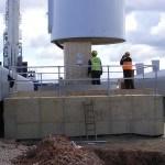Baulker Farm Lowering lower tower section