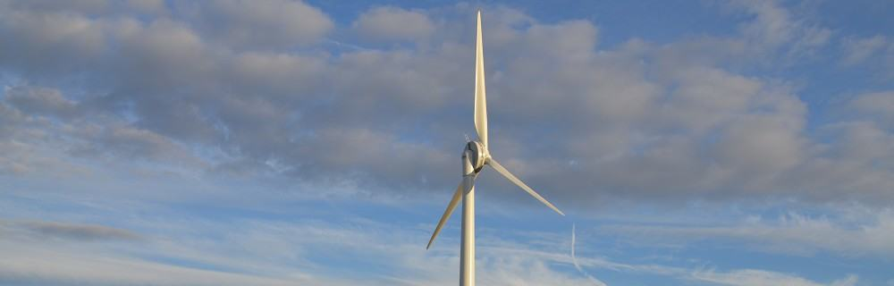 Baulker Farm wind turbine running