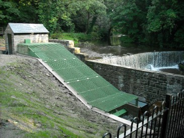 New Mills Archimedes screw