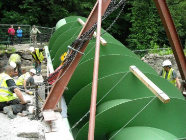 New Mills – 63 kW Archimedes Screw