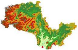 Hydropower feasibility study - Rainfall density plot in catchment modelling software