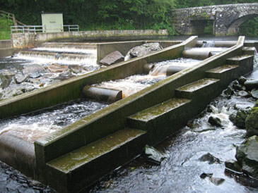 New pool and weir fish pass on a Devonian river