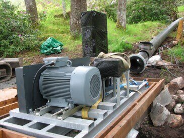 Cross flow turbine installation - Renewables First