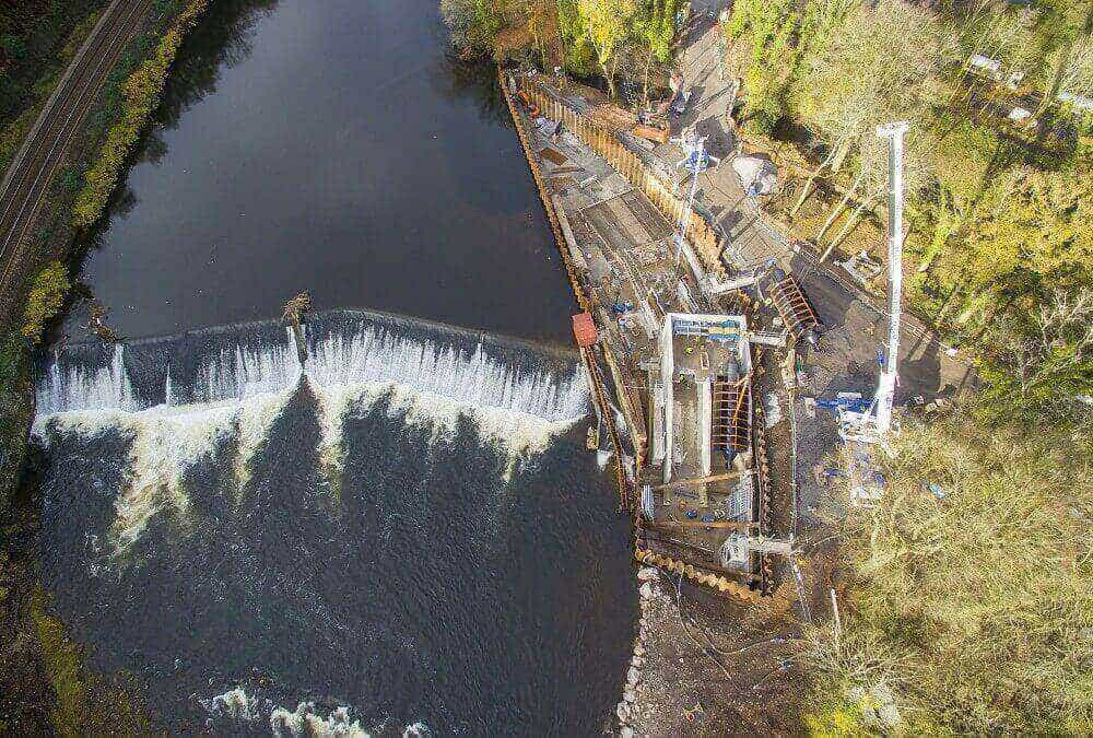 A drone's eye view of Radyr Weir scheme
