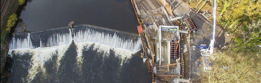 A drone's eye view of Radyr Weir scheme