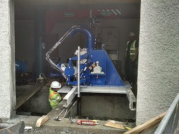 Installing the Pelton turbine