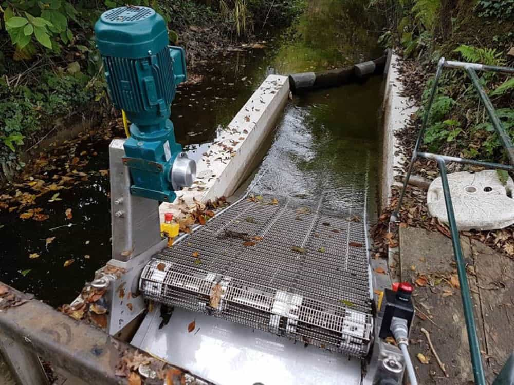 Maximising the generating capacity of a Cornish hydropower scheme using the GoFlo self-cleaning water intake screen