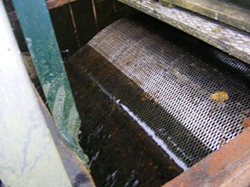 Intake drum screen previously used