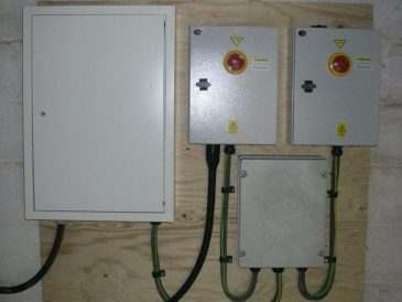 Turbine house control panel