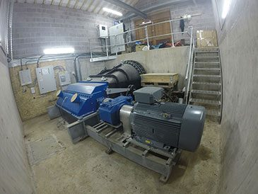 Crossflow turbine at Cochwillan