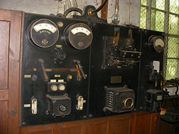 Decommissioned equipment retained in the turbine house