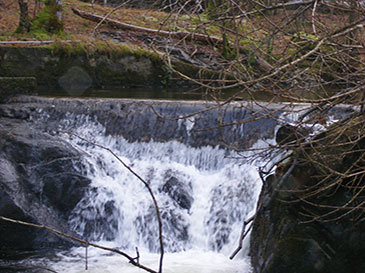 Intake weir for Pale Hall hydro scheme
